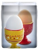 Boiled Eggs In Cups Duvet Cover by Elena Elisseeva