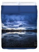Boise River Just After Sunset Duvet Cover