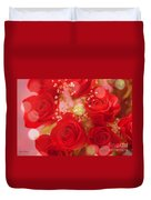 Bokeh Roses Duvet Cover by Cheryl Young