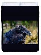 Bold And Demanding Raven Duvet Cover