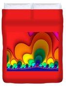 Bold Colors Fractal Duvet Cover