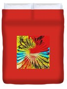 Bold Floral Hat Abstract Duvet Cover