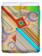 Bold Geometric Abstract  Duvet Cover
