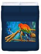 Bold Parrot Duvet Cover