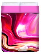 Bold Pink Abstract Duvet Cover