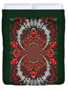 Tulips Kaleidoscope - Red And Green Duvet Cover