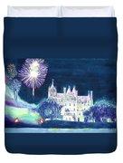 Boldt Castle Fireworks Duvet Cover
