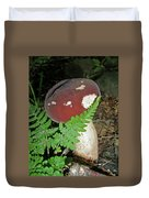 Bolete Mushroom And Fern Duvet Cover