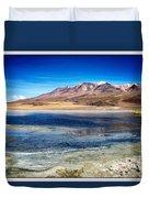Bolivia Desert Lake Framed Duvet Cover