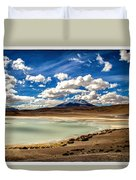 Bolivia Lagoon Clouds Framed Duvet Cover
