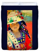 Bolivian Child Duvet Cover
