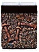 Bolts In Gravel Duvet Cover