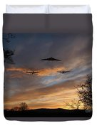 Bombers Pass By  Duvet Cover