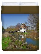 Bonds Mill Area Stroudwater Canal Duvet Cover