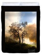 Bonfire And Olive Tree Duvet Cover