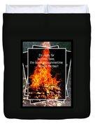 Bonfires And Summertime Duvet Cover