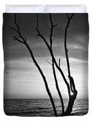 Bonita Beach Tree Black And White Duvet Cover
