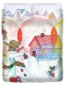 Bonnefemme De Neige / Snow Woman Duvet Cover
