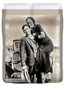 Bonnie And Clyde - Texas Duvet Cover
