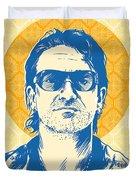 Bono Pop Art Duvet Cover by Jim Zahniser