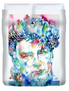 Bono Watercolor Portrait.1 Duvet Cover