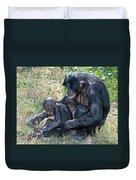 Bonobo Adult Tickeling Juvenile Duvet Cover