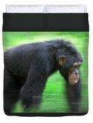 Bonobo Pan Paniscus Knuckle-walking Duvet Cover