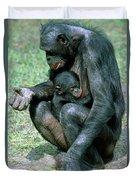 Bonobo Pan Paniscus Nursing Duvet Cover