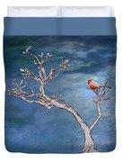 Bonsai Cardinal Duvet Cover