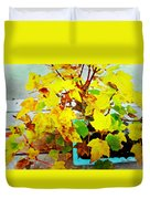 Bonsai Tree With Yellow Leaves Duvet Cover