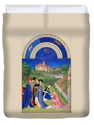 Book Of Hours: April Duvet Cover