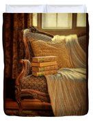 Books On Victorian Sofa Duvet Cover