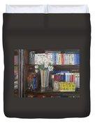 Bookworm Bookshelf Still Life Duvet Cover