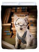 Bookworm Dog Duvet Cover