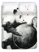 Boom Panda Duvet Cover