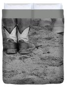 Boots And Horse Hooves Duvet Cover
