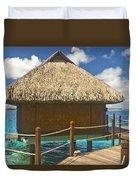 Bora Bora Bungalow Duvet Cover