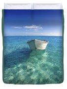 Bora Bora White Boat Duvet Cover