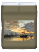 Bordeaux In The Harbor Duvet Cover