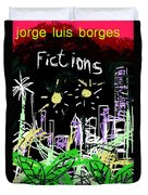 Borges Fictions Poster  Duvet Cover