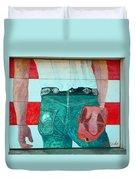 Born In The Usa Urban Garage Door Mural Duvet Cover