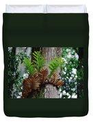 Borneo Fern A Primitve Ant Plant Duvet Cover