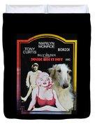 Borzoi Art - Some Like It Hot Movie Poster Duvet Cover