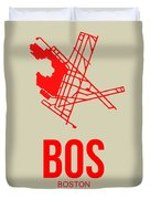 Bos Boston Airport Poster 1 Duvet Cover