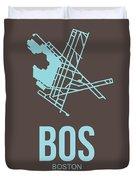 Bos Boston Airport Poster 2 Duvet Cover