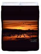 Bosque Del Apache Sunrise 1 Duvet Cover