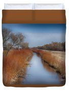 Bosque Del Apache Wetlands- New Mexico Duvet Cover