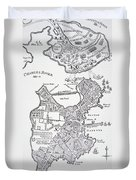 Boston And Bunker Hill 1781 Duvet Cover by American School