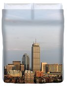 Boston Back Bay With The Prudential Tower Duvet Cover by Jannis Werner