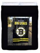 Boston Bruins Flag Duvet Cover